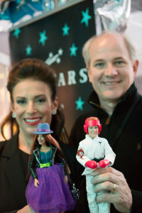 Possibility Place Partners Jill Barad and Dan Lauer with 3D Printed AvaStars Dolls