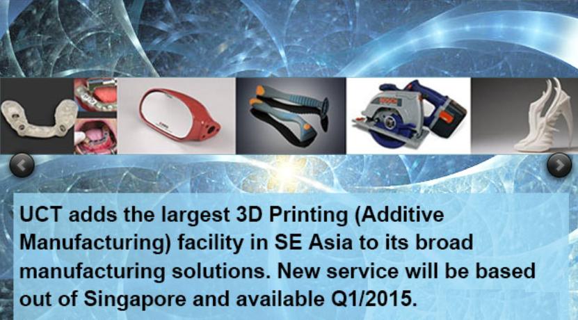 UCT 3d printing senter singapore