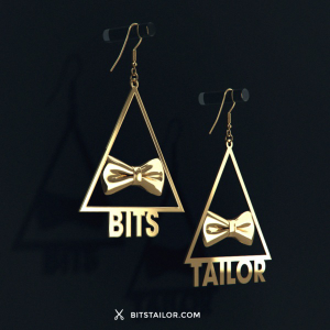 black bits and tailor 3d printed earrings