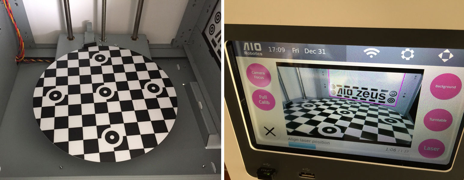 calibration zeus 3d printer aio robotics