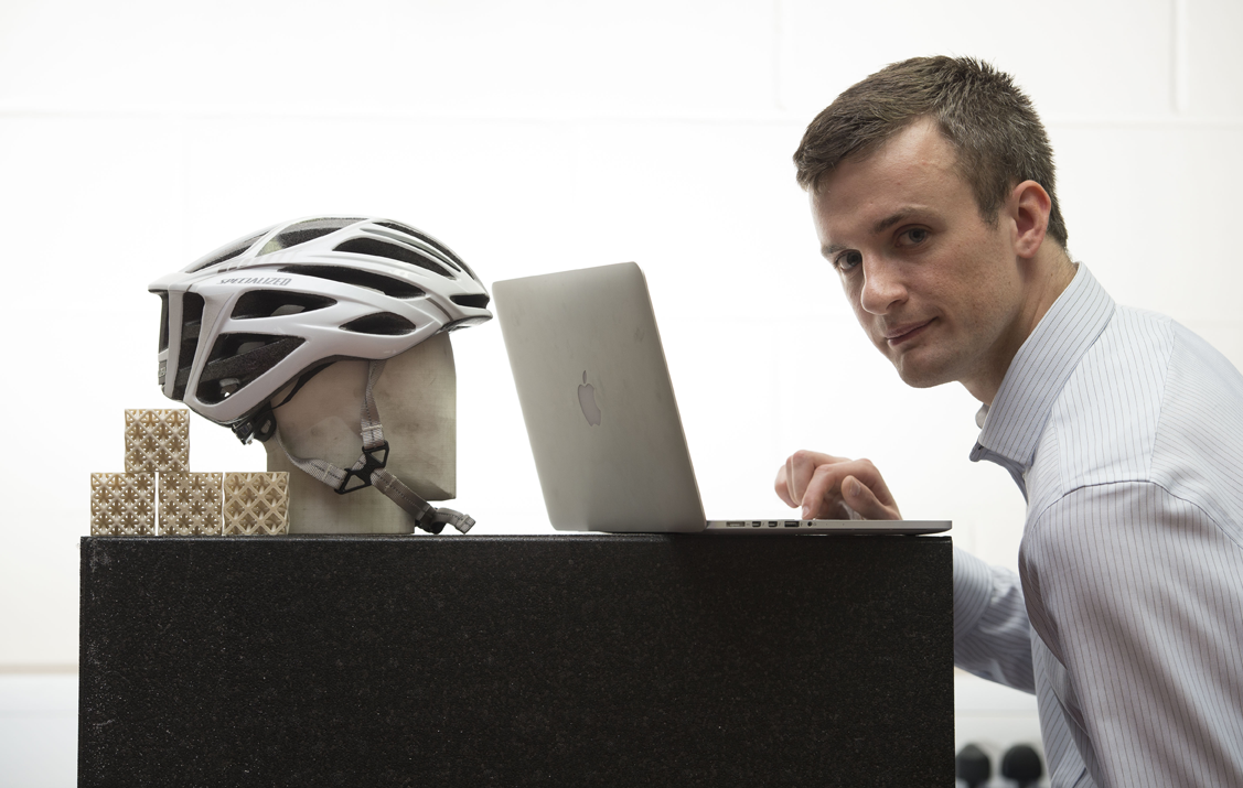 cardiff university 3D printing to make safe bike helmets
