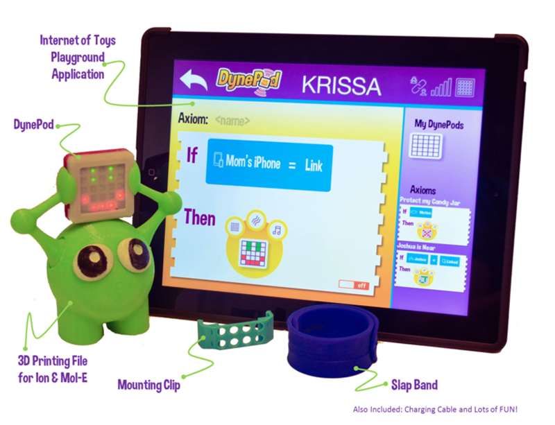 dynepod programmable 3D printed wearable for kids