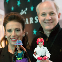 feature Possibility Place Partners Jill Barad and Dan Lauer with 3D Printed AvaStars Dolls