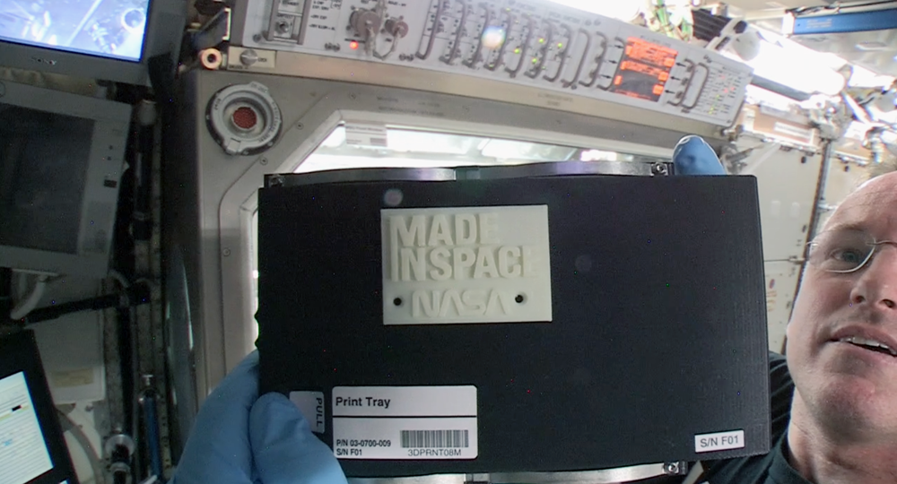 first 3D print in space