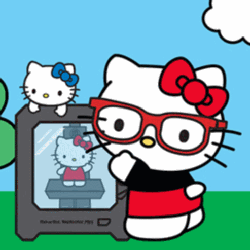3d printable hello kitty makerbot