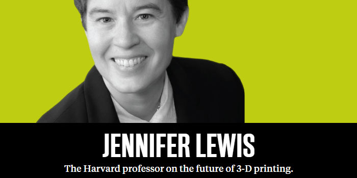 Foreign Policy Magazine Names Jennifer Lewis 2014 Global Thinker for 3D Bioprinting Research