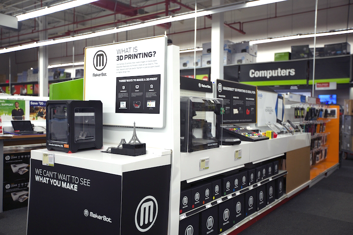 makerbot 3d printers in staples stores