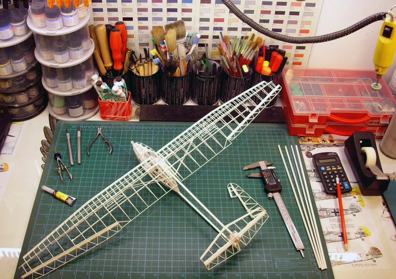 3d printed plane_3dp_unfinished