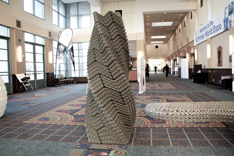 quake column emerging objects 3d printing