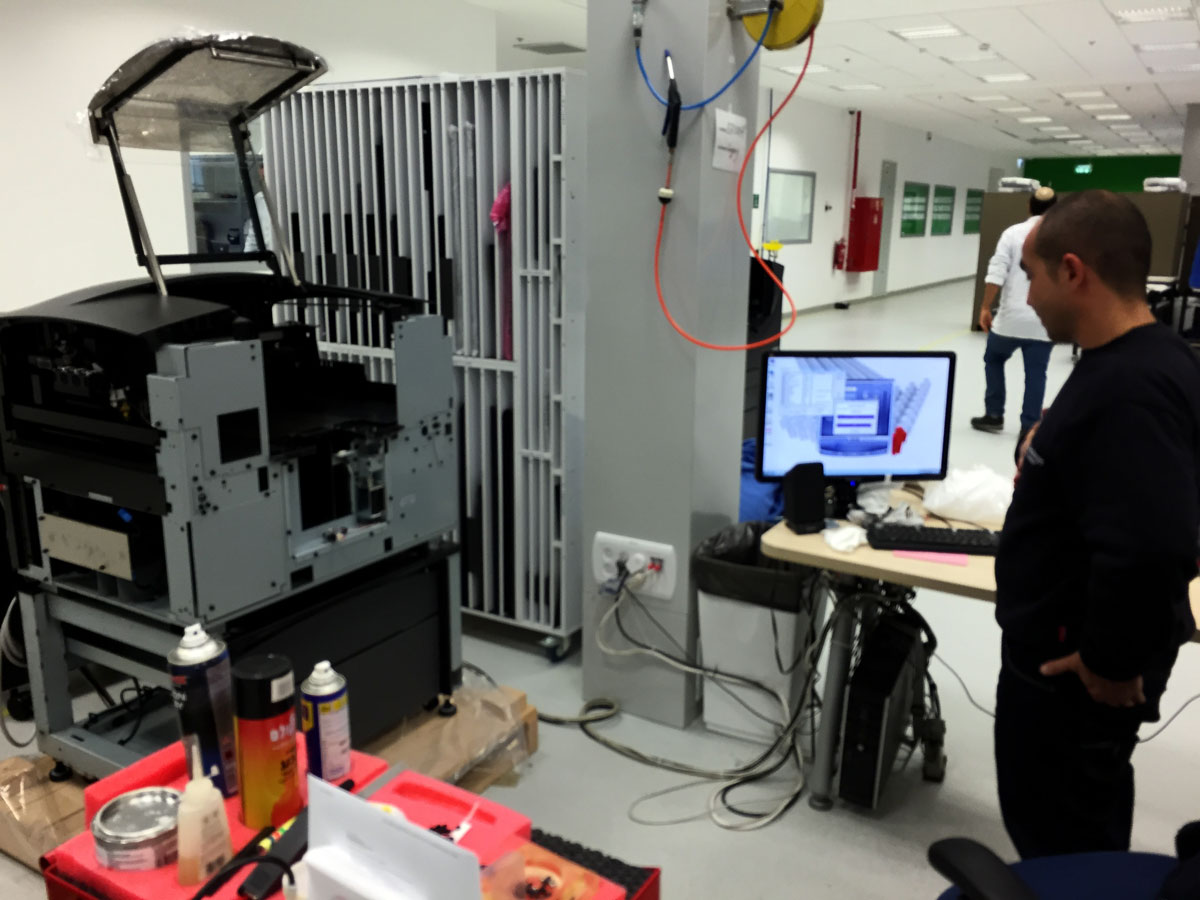 testing 3d printer stratasys