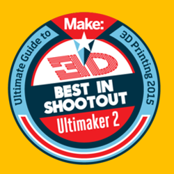 ultimaker 2 wins shootout in make ultimate guide to 3D printing