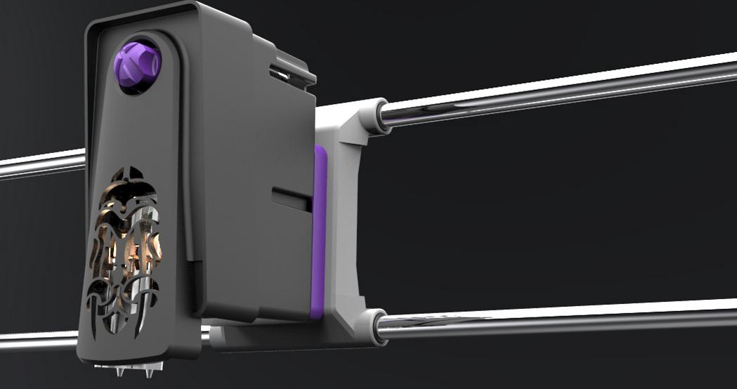 Praxis3d 39 S X Truder Dual Nozzle Extruder 3d Printing