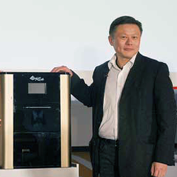xyzprinting ceo with food 3d printer