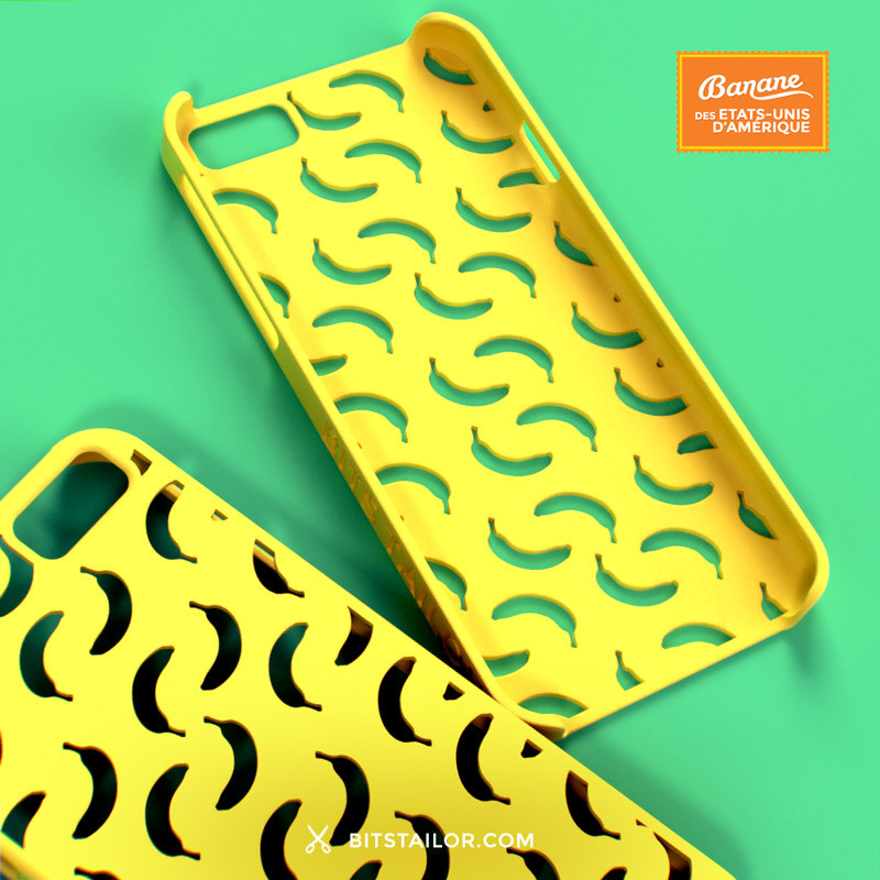 yellow 3d printed phone case