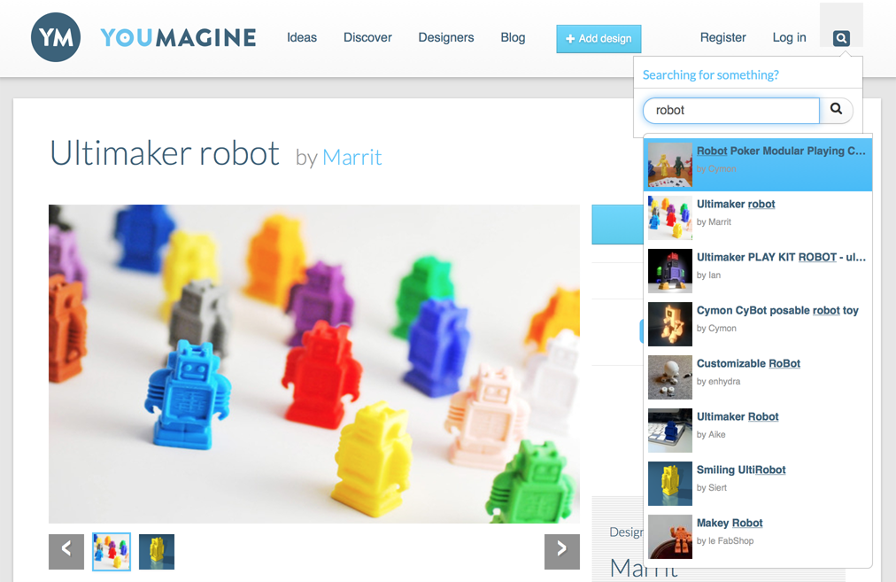 youmagine 3D printing search