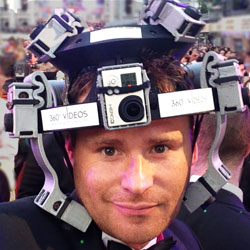 369 degree camera helmet