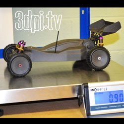 3D Printed carbon fibre remote control car