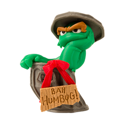 3D printable oscar the grouch from sesame street and makerbot