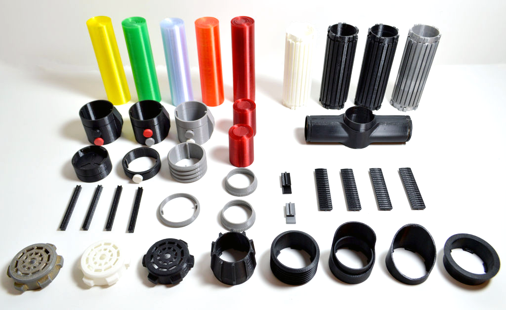 3D printed light saber parts