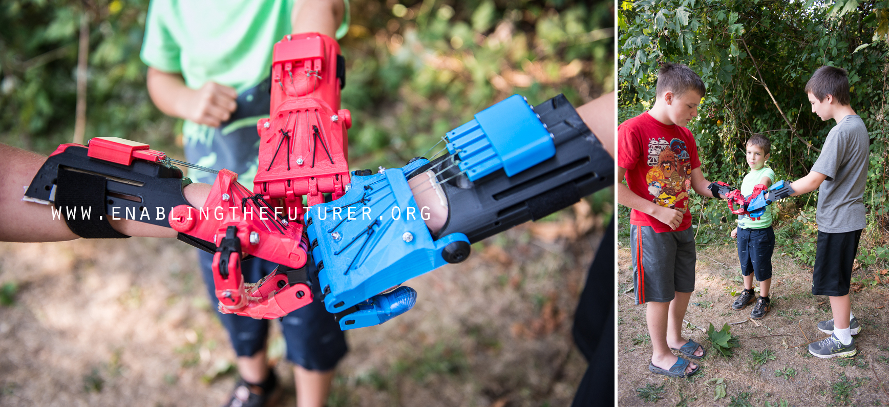3D printed prosthetic hands from e-nable