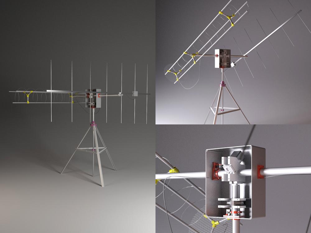 3D printed satnogs setup