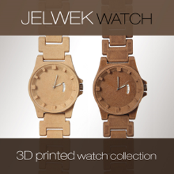 3D printed wood watch from jelwek