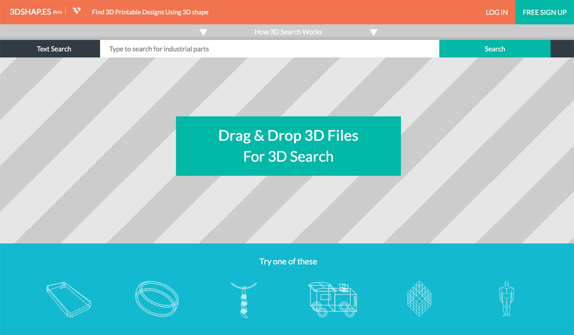 3dindustri.es 3D printing search engine