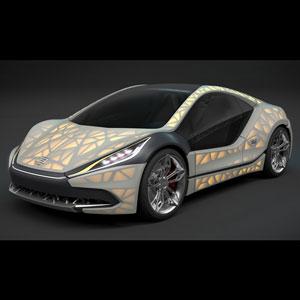 EDAG Light cocoon 3d printed concept car