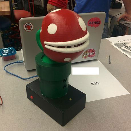 Finished Piranha Plant mario 3d printing