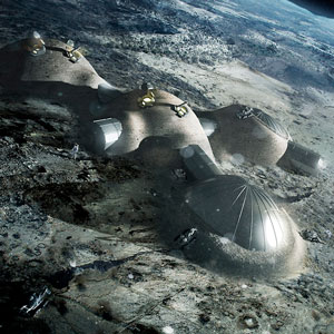 Foster + Partners ESA study 3 D printed lunar structures