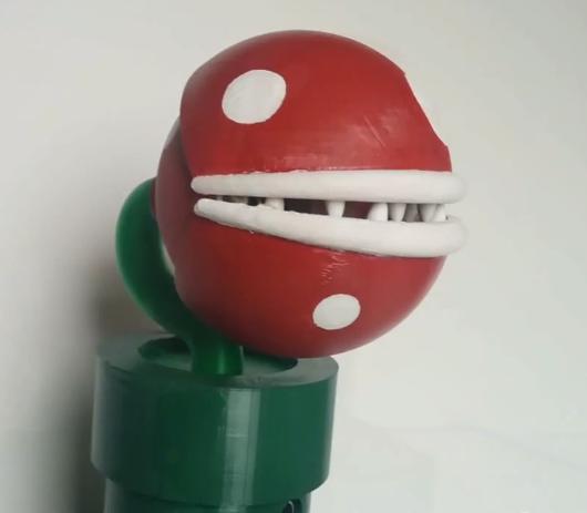 Piranha Side Mario 3D Printing
