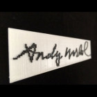Re-Discovered Digital Art Leads to Perfect Plastic 3DP Warhol Signature