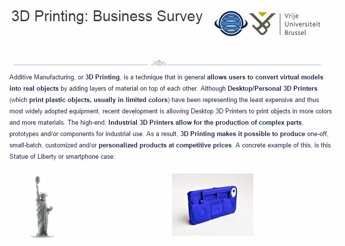 jacobs survey 3d printing