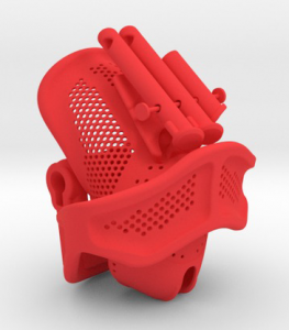 khd_red red 3d printed chastity