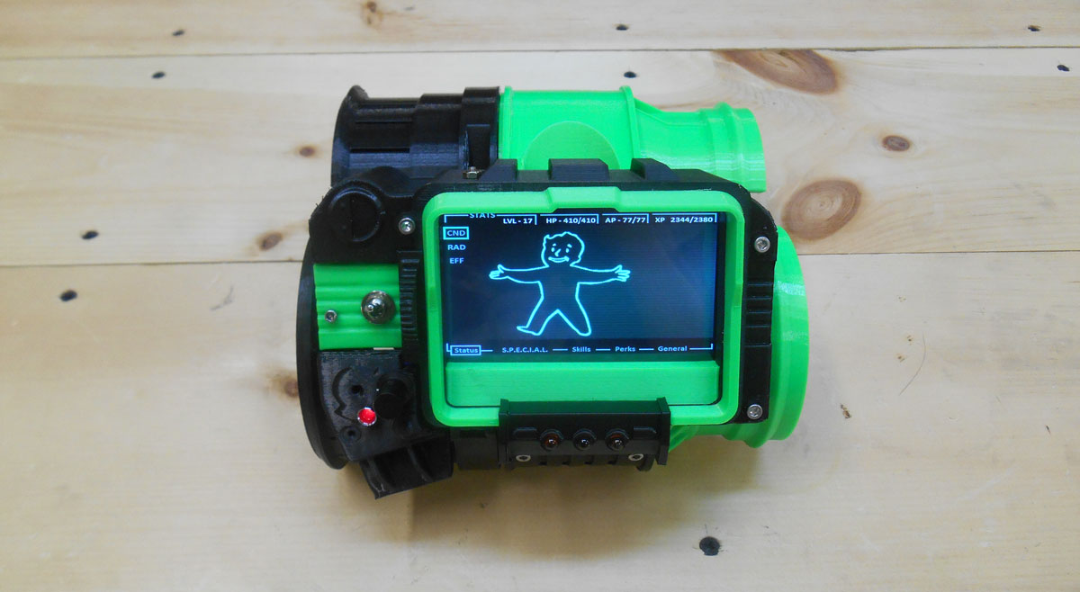 3d printed fallout 3 pip boy 3000 3d printing industry