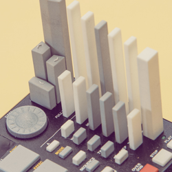 3D printed drum machine for hello play from greg barth