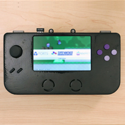 3D printed gaming emulator from adafruit