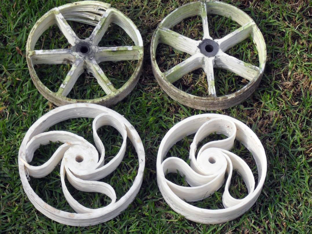 3D printed lawn mower wheels from hans fouche