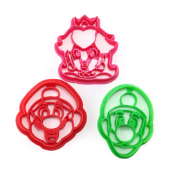 3D printed super mario bros cookie cutters