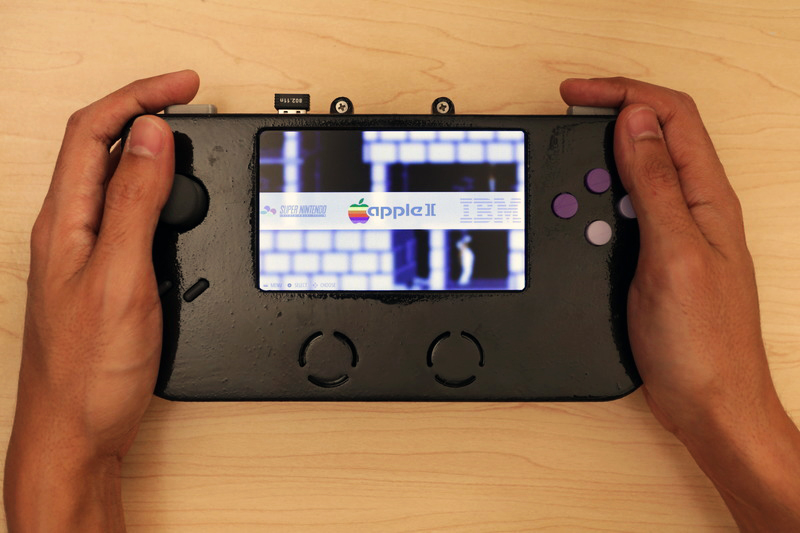 3D printed video game emulator from adafruit