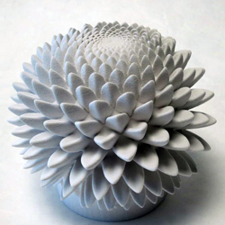 3D printed zoetrop inspired by sacred geometry
