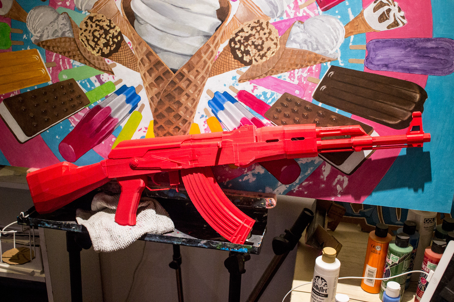 3d printed Red AK47 Replica Finshed