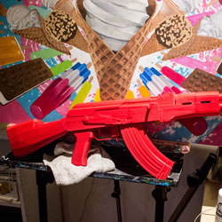 3d printed Red AK47 Replica