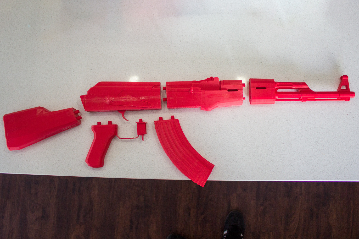 3d printed Red AK47 Replica parts