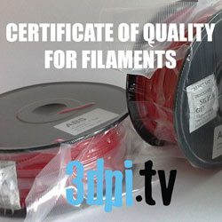 Certificate of Quality FILAMENTS