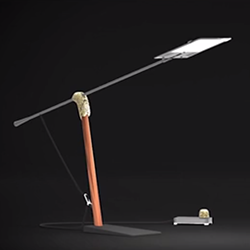 OLED 3d printed lamp ful featurel