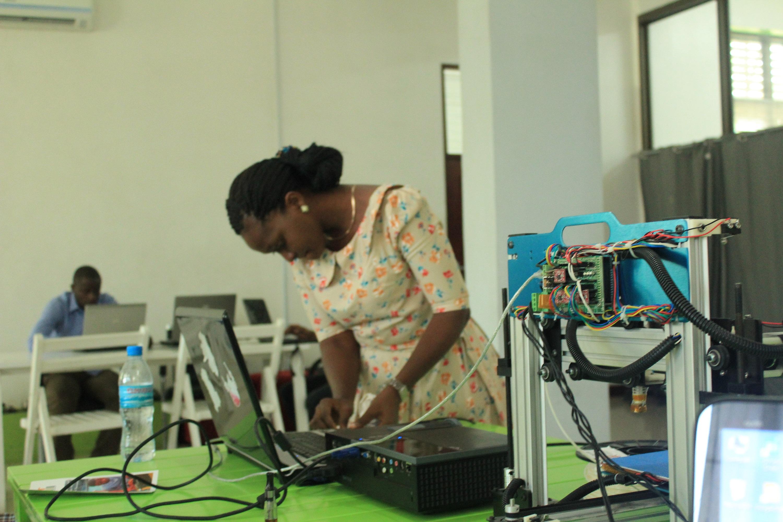 Tanzania Affordable E Waste 3d Printers Printing Industry Mendel Circuit Board Spacer Print Models Buni Printer