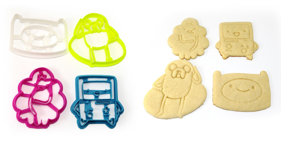 adventure time cookies made with 3D printed cookie cutters