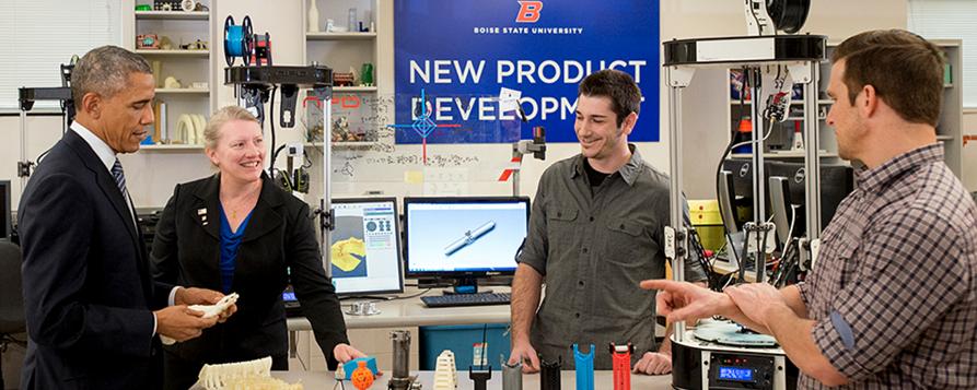 boise state university 3D printing lab obama