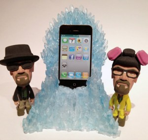 breaking bad 3D printed figurines and iphone dock by fernando sosa